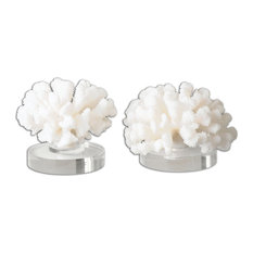 Hard Coral Sculpture in Textured Cream
