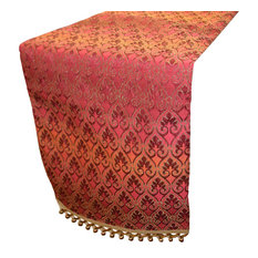 """Bianco Decorative Table Runner, Red, 72"""""""