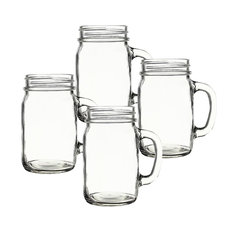 Personalized 16 Oz. Old Fashioned Drinking Jars, Set of 4, Blank