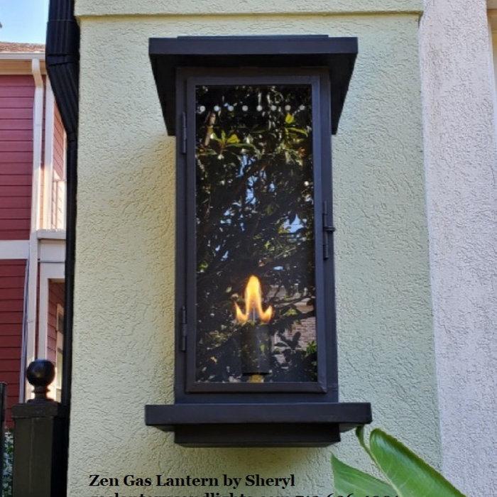 Zen Transitional Gas Lanterns