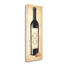 """""""Vintage Rouge Bottle"""" By Emily Adams, Giclee Print on Gallery Wrap Canvas"""