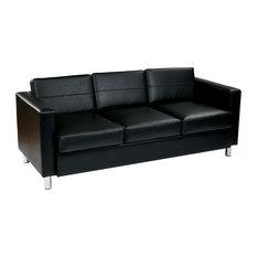 Sleek Leather Sofas | Houzz