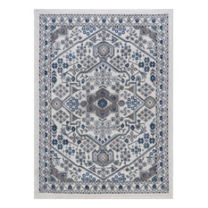 Logan Traditional Oriental Area Rug, Cream, 8'x10'