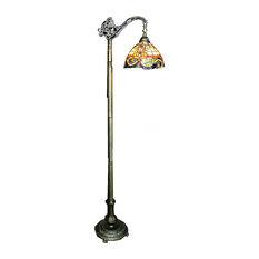 Warehouse Of Tiffany, Inc   Tiffany Style Rome Reading Lamp   Floor Lamps