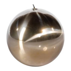 """4"""" Tall Candle, Ball Shaped, Titanium Gold (Set of 6)"""