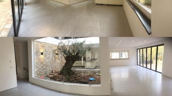 Betonlook Bodenbeschichtung Wohnhaus