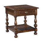 Valencia Oval Bedside Table Mahogany Stain Traditional