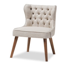 Scarlett Upholstered Accent Chair With Tuffting, 1-Seater, Light Beige