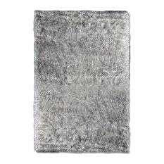 eCarpetGallery Faux Sheepskin Rug, Grey Tip, 3'x4' Rectangle