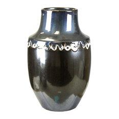 Vase, Ceramic, Antique Silver