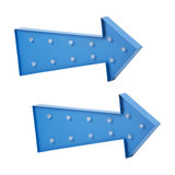 Pack of 2 Litecraft Arrow Shaped Novelty Table or Wall Light