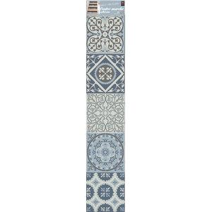 Kaleidoscopic Tile Wall Panels, Grey, 20x100 cm, Set of 12