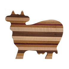 Exotic Woods Cow Shaped Wood Cutting Board