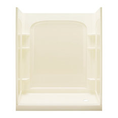 """Sterling  Ensemble 30""""x60""""x72.5"""" Alcove Shower Kit, Biscuit"""