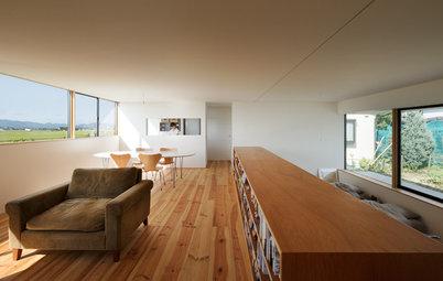 Houzzbesuch: 70 qm Haus mit postkartenreifen Ausblicken in Japan