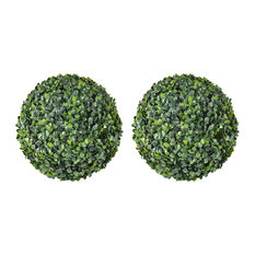 vidaXL - VidaXL Boxwood Ball Artificial Leaf Topiary, 35 cm, Set of 2 - Artificial Plants and Trees