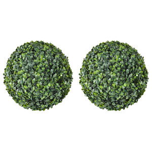 VidaXL Boxwood Ball Artificial Leaf Topiary, 35 cm, Set of 2