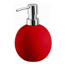 Round Countertop Soap Dispenser, Red