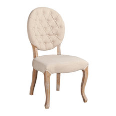 Avalon Linen Oval Back Chair