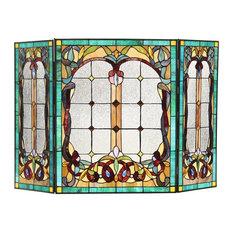 Lucian 3-Piece Folding Victorian Fireplace Screen