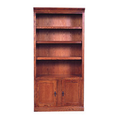 Mission Bookcase With Lower Doors, Auburn Alder