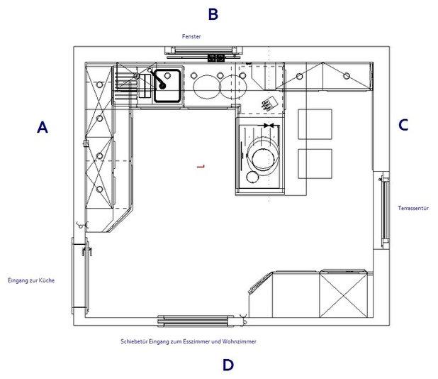 Contemporary Floor Plan by KÜCHEN BECK Profi Center GmbH