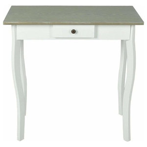 Contemporary Stylish Coffee Table, White/Grey MDF With Storage Drawer