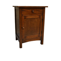 Mission Nightstand End Table Solid Oak