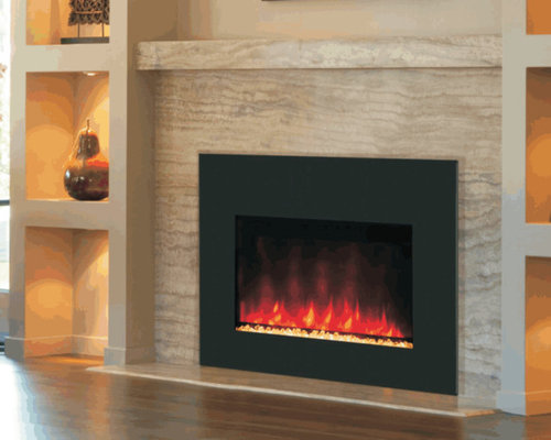 contemporary electric fireplace photos - Electric Fireplace Design Ideas