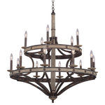 """Kalco - Coronado 38""""x40.5"""" 15-Light Rustic Lodge Chandelier by Kalco - From the Coronado collection  this Rustic Lodge 38Wx40.5H inch 15 Light Chandelier will be a wonderful compliment to  any of these rooms: Dining Room; Bedroom; Kitchen; Foyer"""