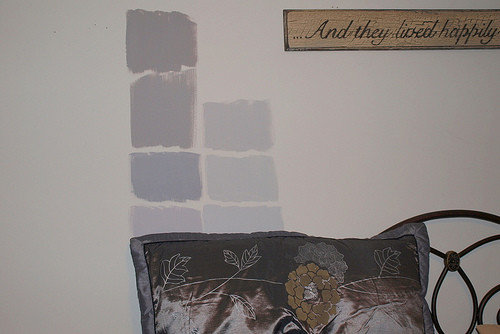 Going Down The Wall From Top We Have Behr Cathedral Gray Porpoise Timber Wolf Urban Pearl Sterling And Silver Screen