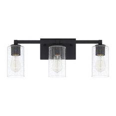 Capital Lighting Fixture Company - Capital Lighting Ravenwood Black Iron 3-Light Vanity - Bathroom