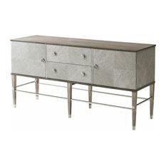 Modern Cerused Oak Cabinet