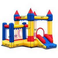 Generic Inflatable Bounce House Castle Commercial Kids Jumper Moonwalk Ball