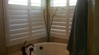 West Reno - Master Bathroom with vinyl shutters