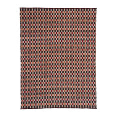 Chess Red and Black Jute Rug, 120x170 cm