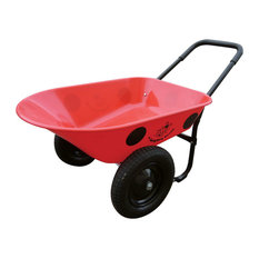 Marathon Dual-Wheel Residential Yard Rover Wheelbarrow, Yard Cart- Ladybug