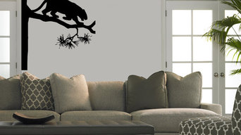 wall vinyl sticker decal panther on tree
