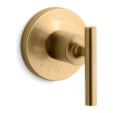 Kohler - Kohler Purist Volume Control Valve Trim Lever Handle, Brushed Gold - Tub and Shower Parts