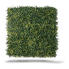 "Artificial Ficus Gold Wall Panels, Set of 4, 20""x20"""