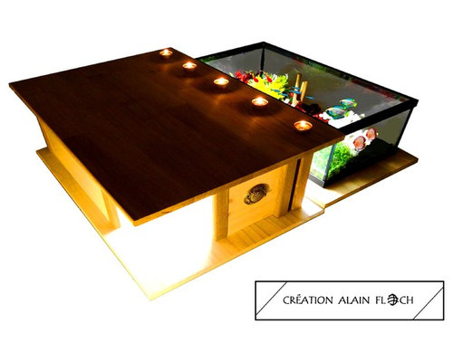 Tables basses aquarium for Tables basses contemporaines