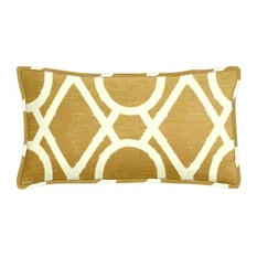 Lattice Bamboo Amber Lumbar Pillow Set