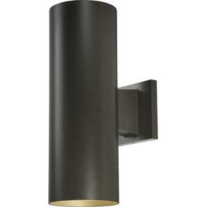 Volume Lighting 2-Light Black Outdoor Wall Sconce