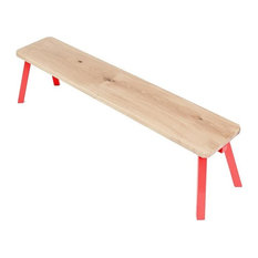 My Way Wooden Dining Bench, Red