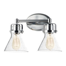 "Maxim 26112 Seafarer 15"" Seedy Glass Bathroom Light - Chrome"