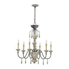 Cyan Design Six Lamp Chandelier, Carriage House