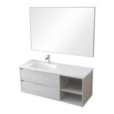 Neo 2-Drawer Bathroom Vanity Unit, Hibernian Finish, 100 cm