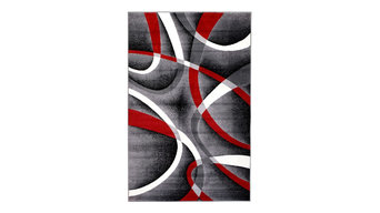 """Summit Gray Red Abstract Area Rug, 7'4""""x10'6"""""""
