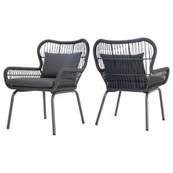 Beach Style Outdoor Lounge Chairs by GDFStudio