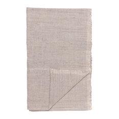 Handwoven Cotton Table Runner, Grey